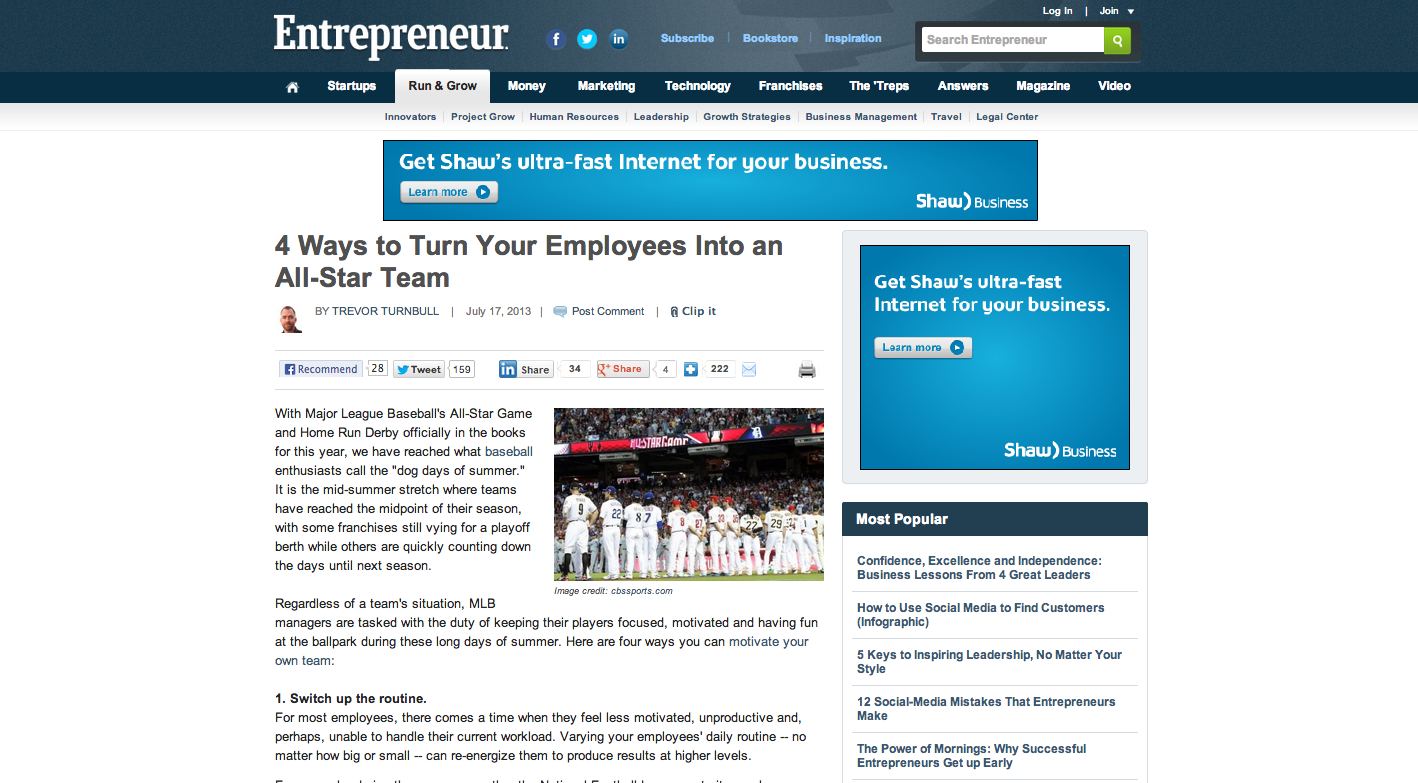 4 Ways To Turn Your Employees Into An All Star Team