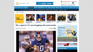 NFL a giant on TV, but struggling with social media