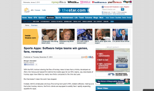Sports Apps: Software helps teams win games, fans, revenue