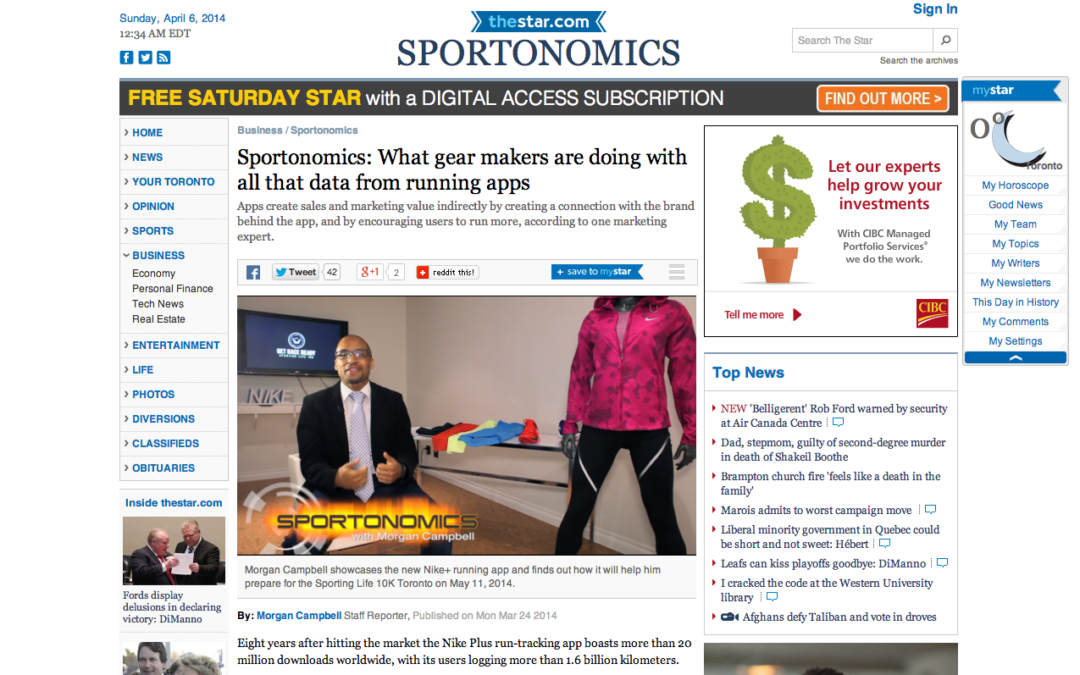 Sportonomics: What gear makers are doing with all that data from running apps